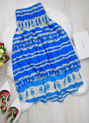 Пляжная туника платье бандо ассиметричная