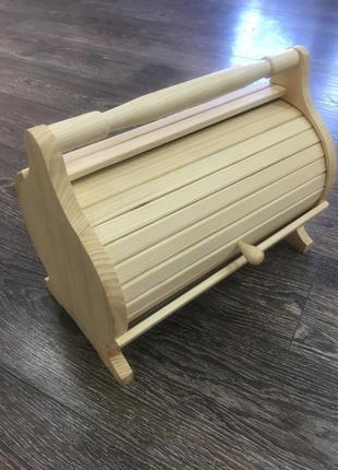 Качественная хлебница из дерева