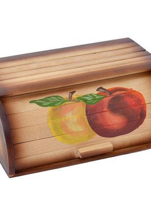 Деревянная хлебница с яблоками