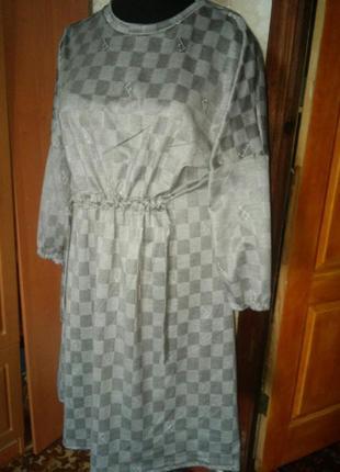 Платье бохо хлопок