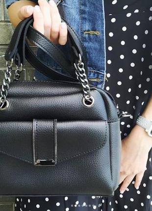Черная сумка женская черная сумочка через плечо