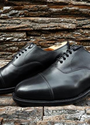 Оксфорды regent 44.5 размер uk 10 туфли англия натуральная кожа мужские