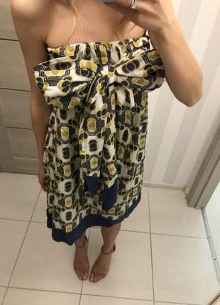 Платье трансформер ted baker шёлк /хлопок