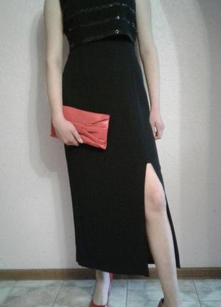 Вечернее  черное платье размер 16