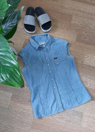 Класна базова сорочка, джинс