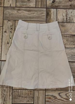 Юбка джинсовая летняя бежевая