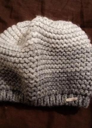 Зимняя вязаная шапочка с градиентом!