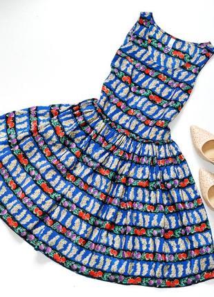 Красивое фруктовое платье в стиле нью лук,цветное платье