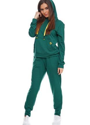Женский спортивный костюм с капюшоном морская волна, s-xl