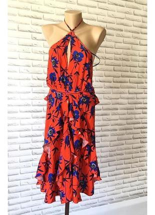 Красное летнее платье / сарафан h&m