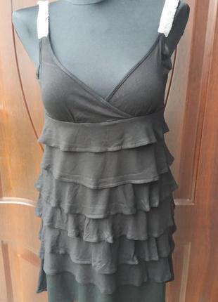 Пляжное коктельное вечернее платье