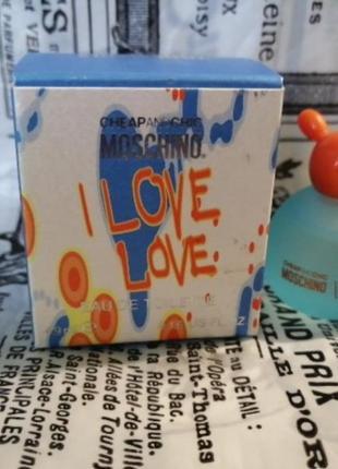 Туалетная вода moschino i love love женская 4,9мл