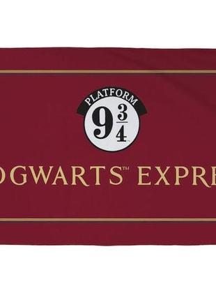 Пляжное полотенце гарри поттер - хогвартс экспресс платформа 9 3/4