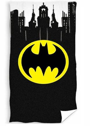 Пляжное полотенце бэтмен 70х140 см - 100% хлопок