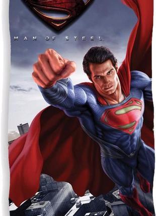 Пляжное полотенце супермен 70х140 см - 100% хлопок