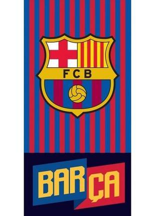 Пляжное полотенце фк барселона 140х70 см для футбольного фаната