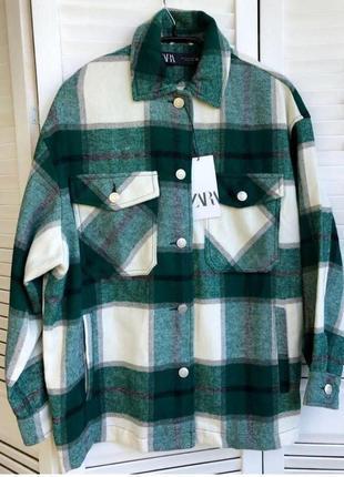 Зеленая рубашка zara