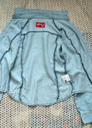 Крутая джинсовая рубашка vinci . турция. s