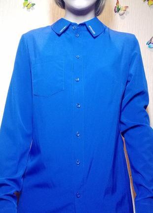Рубашка, цвета електрик