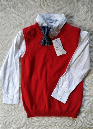 Рубашка с жилеткой на мальчика 7-8 лет