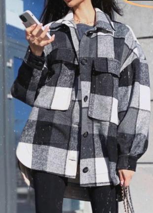 Теплая 🍵рубашка пальто ветровка шерсть