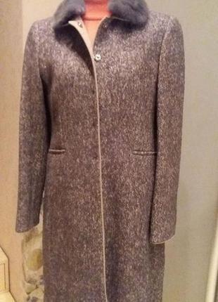 Шикарное пальто  шерсть+кашемир riani (германия) разм.40 (пог 48 см)