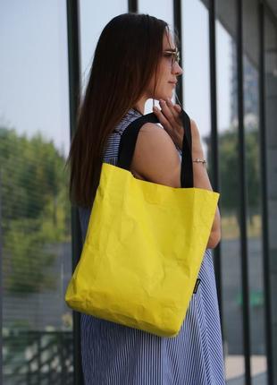 Сумка-шоппер kkuatbg naos yellow. tyvek