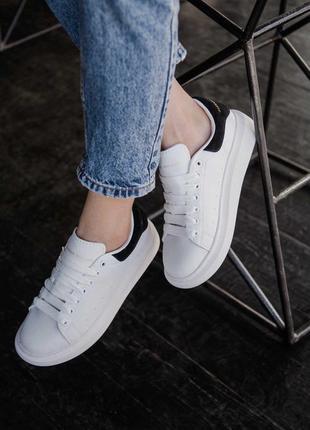 Шикарные кроссовки alexander mcqueen в белом цвете (36-44)