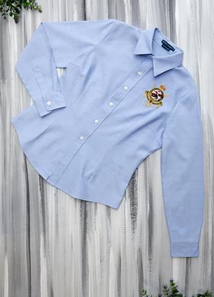 Ralph lauren голубая рубашка поло