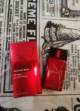 Armand basi in red женская парфюмированная вода 7мл,оригинал, в наличии обьемы
