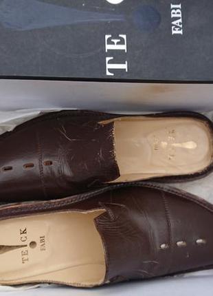 Брендові фірмові шльопки туфлі fabi,оригінал,made in italy,нові в коробці,р.41,5.