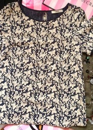 Стильная плотная футболка кофта
