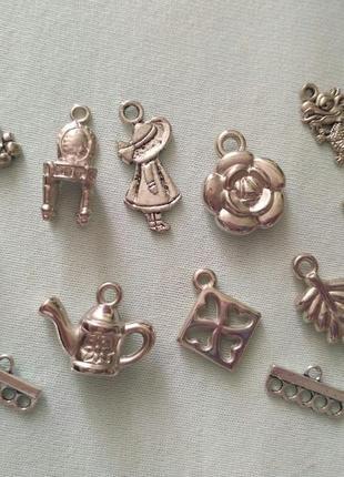 Пришивной металлический декор 12 шт.