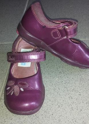 Туфли clark's с мигалками для девочки,14,5 см стелька