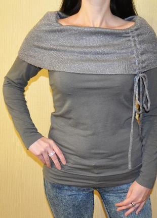 Серая кофта, пуловер размер s