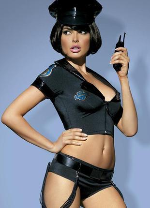 Эротический игровой сексуальный костюм полицейского obsessive