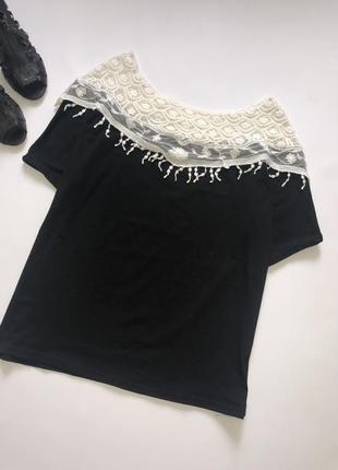 Нарядная трикотажная блуза / футболка