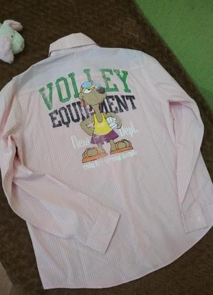 Рубашка benetton с принтом.