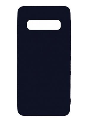Силиконовый чехол накладка 1mm samsung galaxy s10 матовый черный