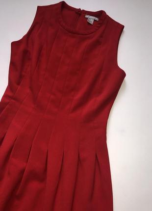 Яркое красное платье от h&m.2 фото