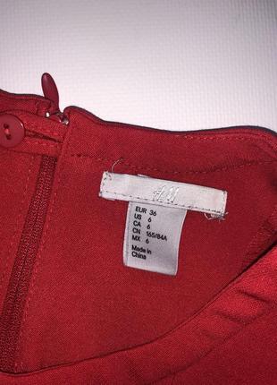 Яркое красное платье от h&m.3 фото