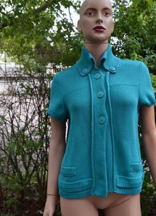 Пиджак трикотажный женский cecil (l\48) короткий рукав