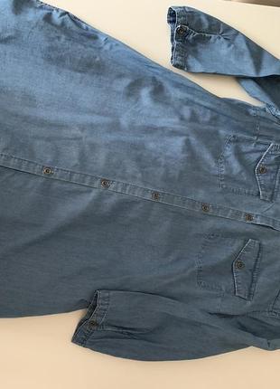 Платье туника джинс