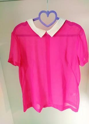 Ефектна блуза яскраво рожева french colection