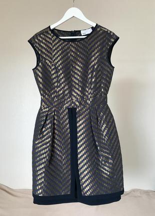 Вечернее женское мини платье с юбкой баской gipsy2 фото