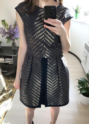 Вечернее женское мини платье с юбкой баской gipsy7 фото
