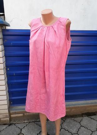 Шикарное нежное платье с вышивкой из чистого льна christian berg