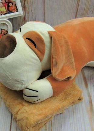Комплект: одеяло-плед, подушка-игрушка