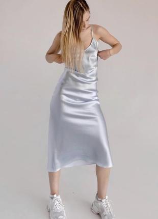 Шикарное платье комбинация шелк армани