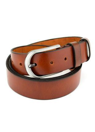 Ремень женский кожаный sf-356 tan (3,5 см)